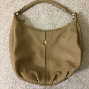 TORY BURCH gorgeous Tan Pebbled Leather Handbag